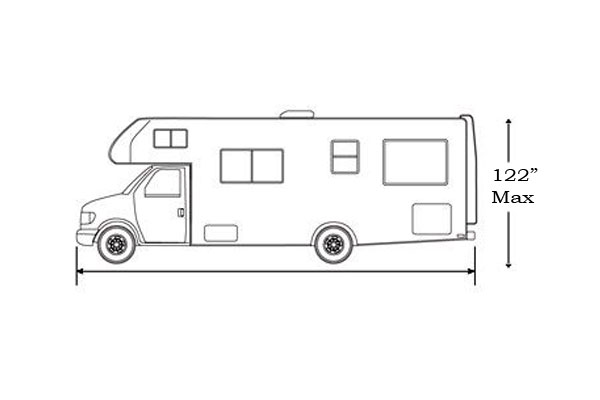 classic accessories polyx 300 rv covers class c size chart
