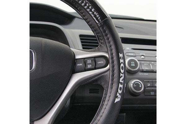 bdk honda carbon fiber steering wheel cover side detail