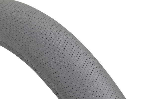motor trend perforated leatherette steering wheel cover detail
