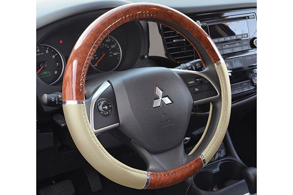 proz burlwood steering wheel cover car