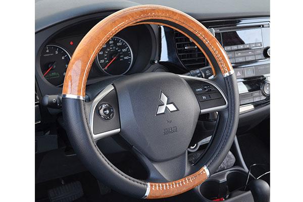 proz burlwood steering wheel cover light car