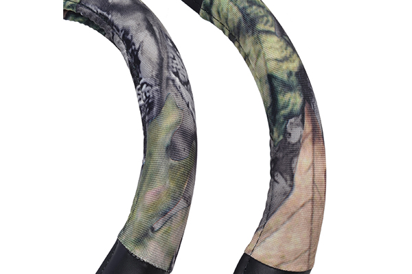 timber camo steering wheel cover camo detail