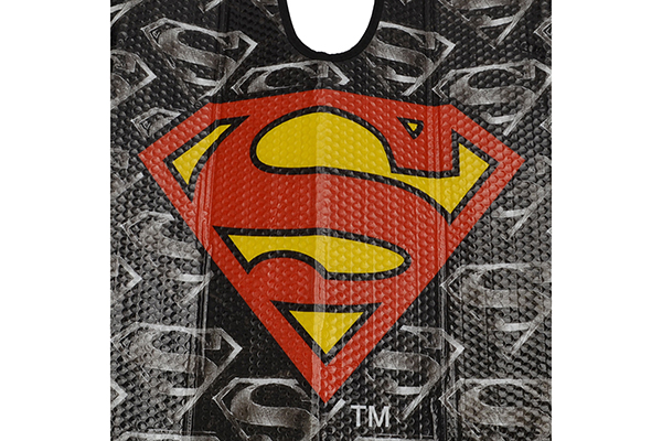 bdk superman windshield sun shade logo detail