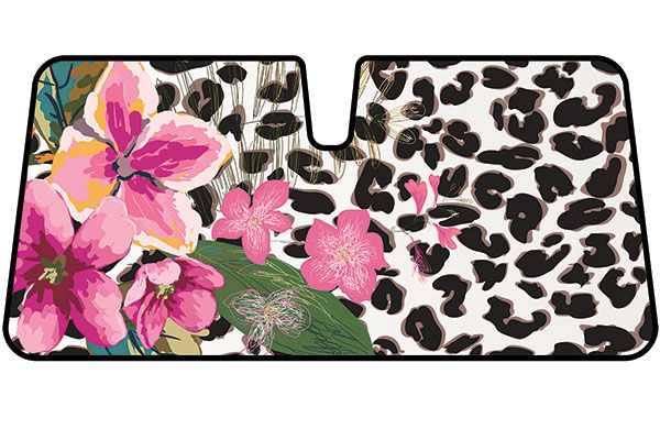 leopard floral windshield sun shade AS 701