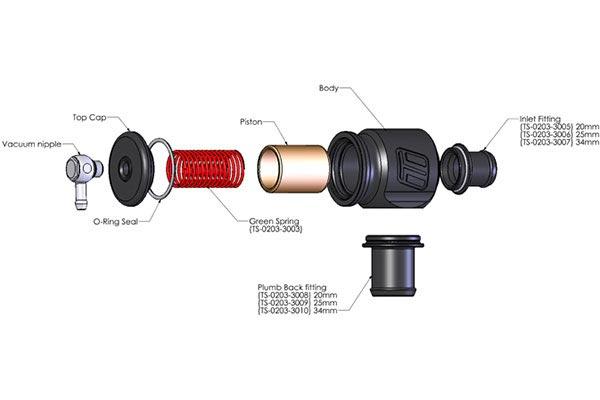 turbosmart kompact plumb back blow off valves   universal fit 2