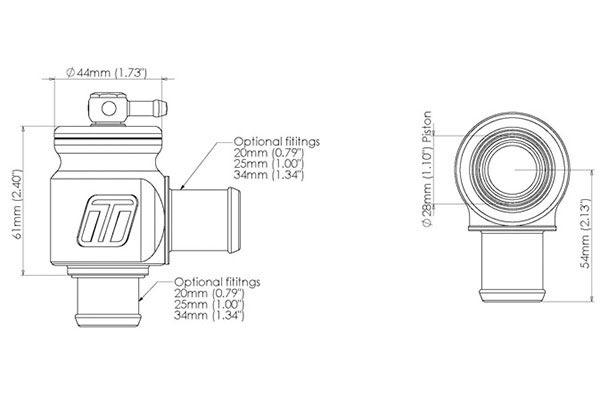 turbosmart kompact plumb back blow off valves   universal fit 3