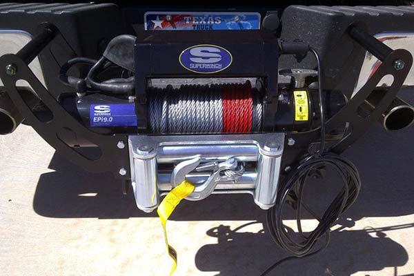 superwinch winch cradle installed