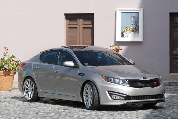 eibach pro kit lowering springs installed on 2011 kia optima