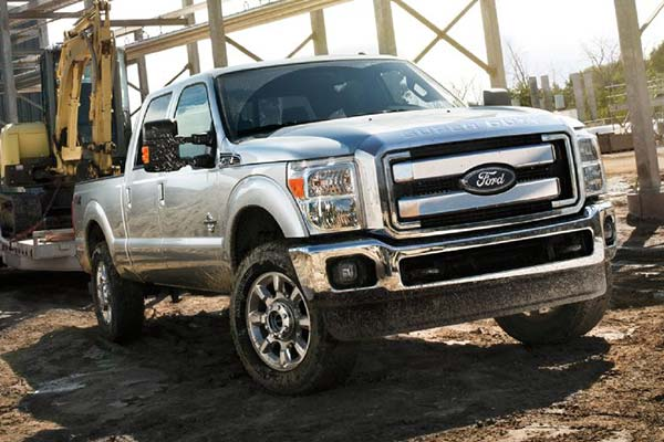 ford truck pulling tractor equipped with air lift suspension system