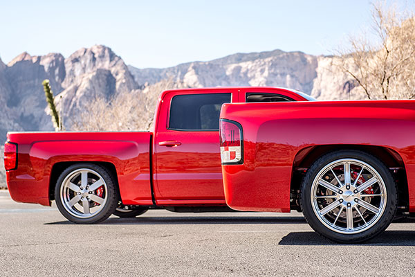 belltech lowering kit silverado rear profile lifestyle