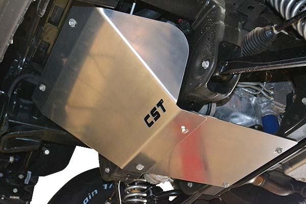 cst skid plate installed
