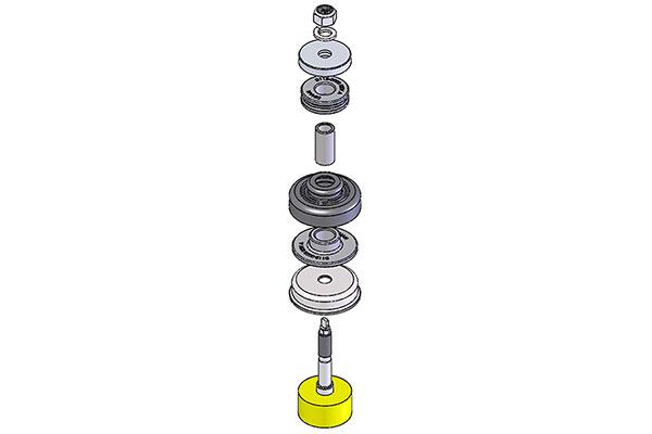 dinan shock strut mounting components detail