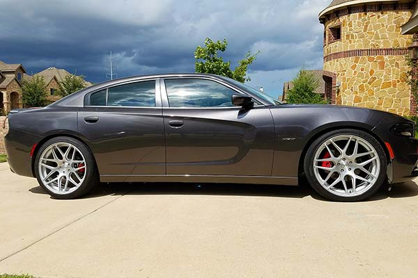 eibach pro kit lowering springs installed on 2015 dodge charger without self leveling suspension