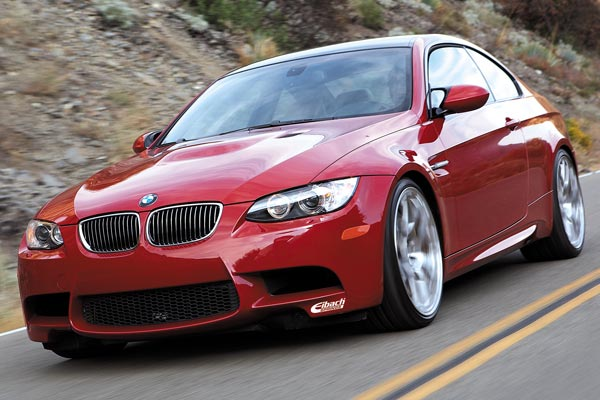 eibach pro springs installed on red bmw m3