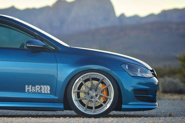 h r premium performance coil over shocks 2015 vw golf lifestyle side profile
