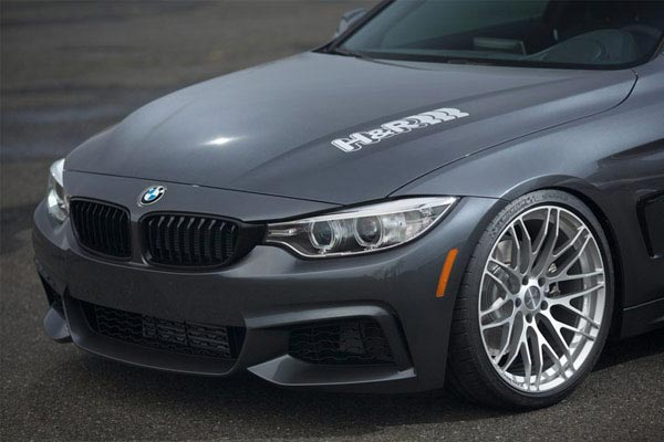 h r sport cup spring and shock kit bmw 4 series front close up