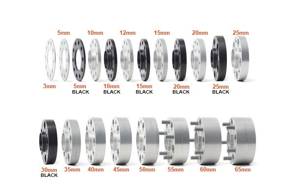 h r trak plus wheel spacers width overview