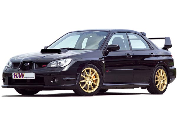 kw coilover shocks Subaru Impreza STI