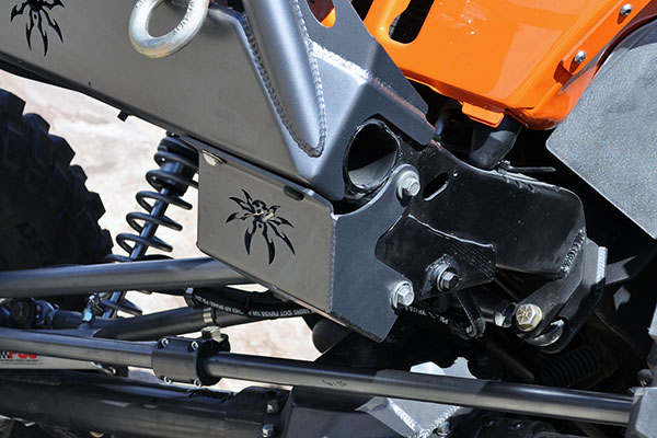 poison spyder steering box skid plate detail