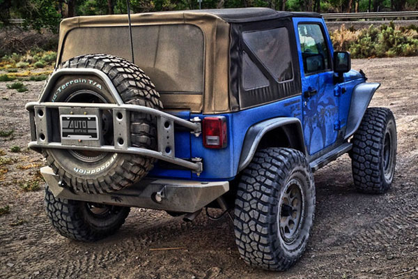 poison spyder body mounted tire carrier lifestyle