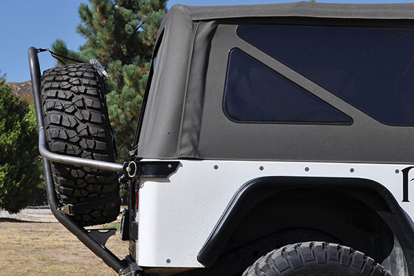 poison spyder rear stinger tire carrier tj profile
