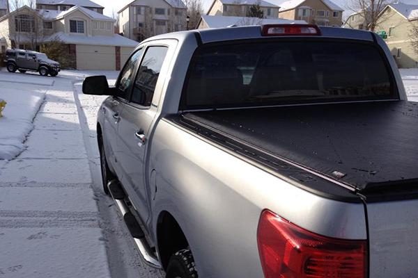 1587 truxedo lo pro tonneau toyota tundra snow 16947439