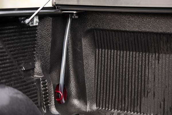 Included Drainage Tubes Can Be Routed to Ensure a Dry Cargo Area