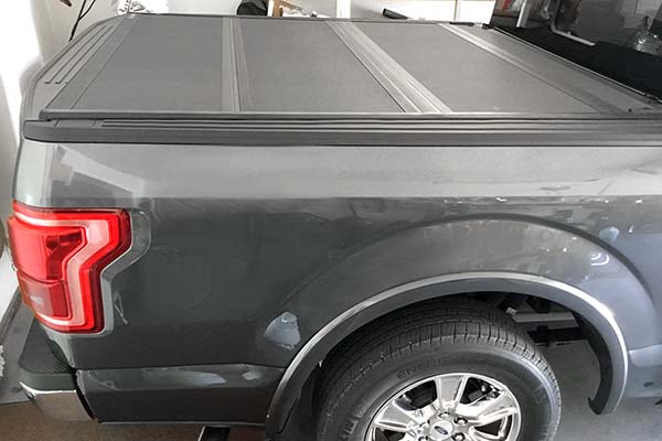 BAK BAKFlip MX4 Folding Tonneau Cover Installed on 2015 Ford F-150 Short Bed - Customer Submitted Image