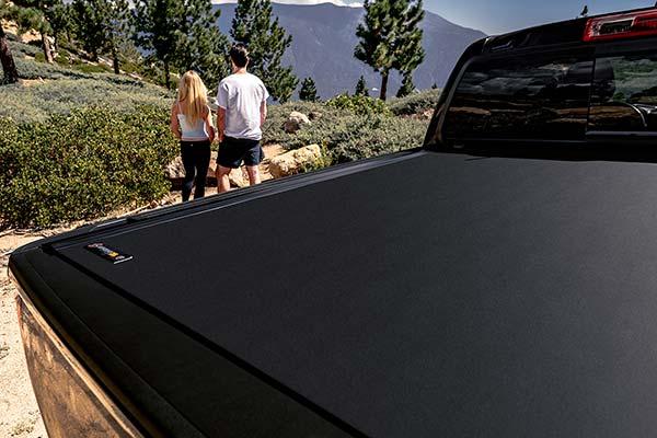 bak x4 angled shot of matte top surface near tailgate