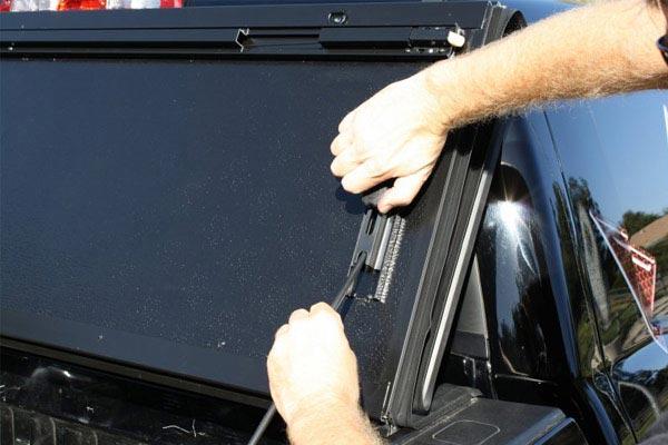 bak bakflip cs tonneau cover with bakbox 2 toolbox latch