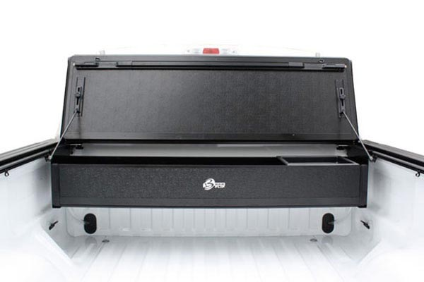 bak bakflip cs tonneau cover with bakbox 2 toolbox open