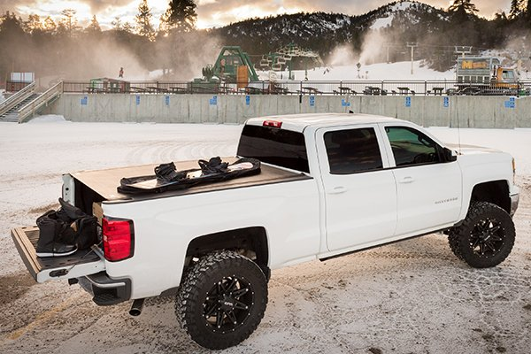 bak revolver x2 roll up tonneau cover silverado ski resort lifestyle