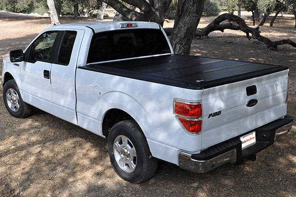 bakflip HD bakbox tonneau toolbox folded down