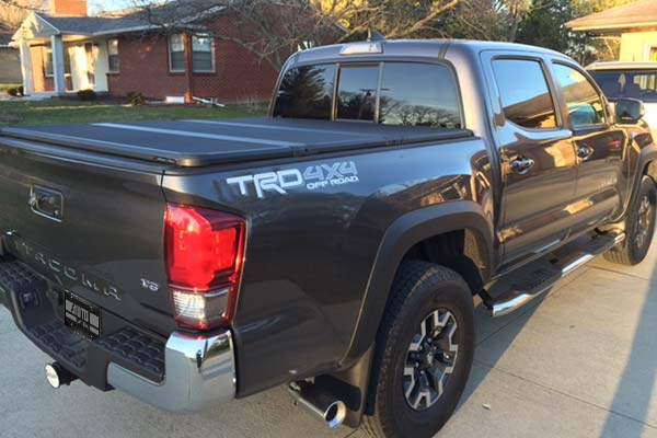 extang solid fold 2 bed cover installed on 2016 toyota tacoma