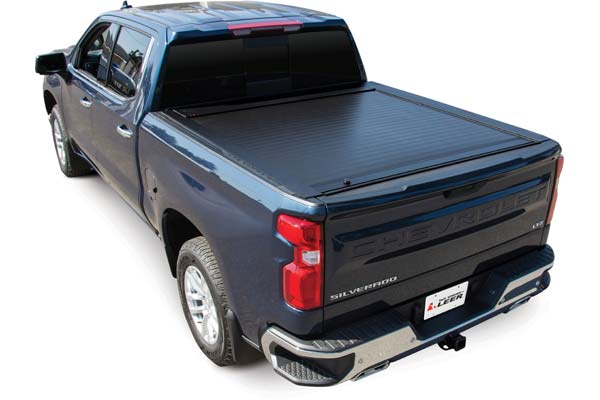 Pace Edwards Jack Rabbit Matte Finish With Standard Rails Shown on Chevy Silverado