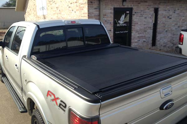 pace edwards switchblade truck bed cover installed on ford f150