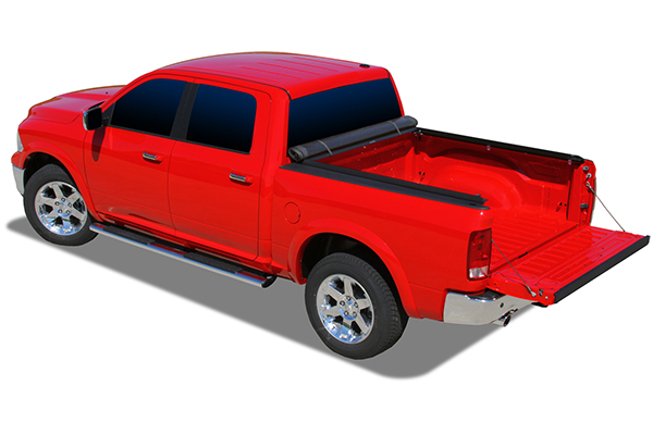 proz premium proroll tonneau cover with truck bed light dodge bed open