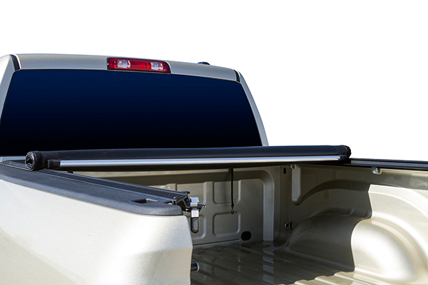 proz premium proroll tonneau cover with truck bed light rails