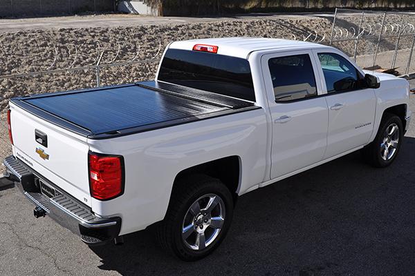 proz rolltrack premium retractable tonneau cover silverado lifestyle
