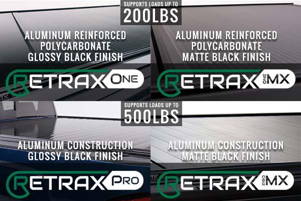Retrax Tonneau Cover Comparison Chart