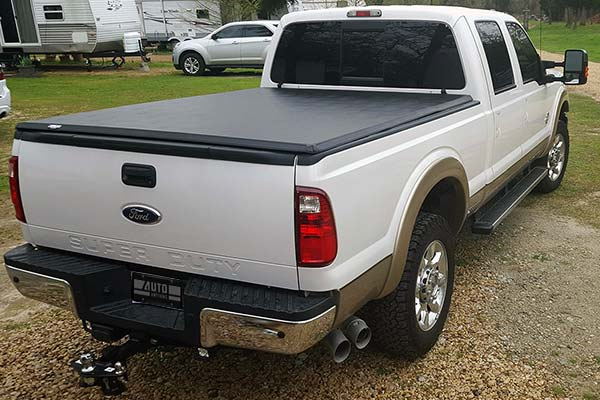 Tonno Pro Hard Tri Fold Tonneau Cover Installed on 2012 Ford F-250 Standard Bed - Customer Submitted Image