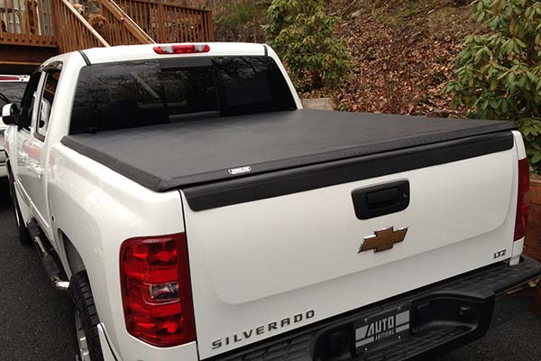 Tonno Pro Hard Tri Fold Tonneau Cover Installed on 2012 Chevy Silveraod Short Bed - Customer Submitted Image