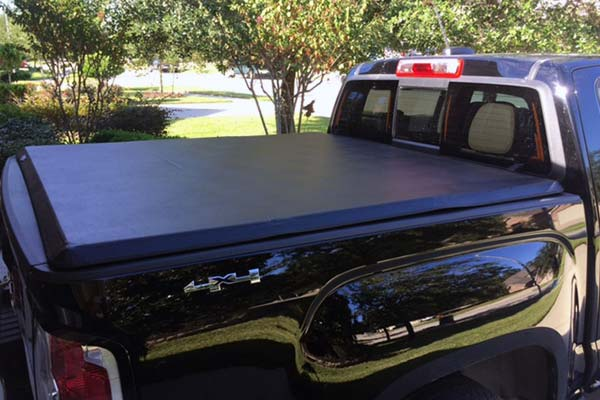 Tonno Pro Hard Fold Truck Cover Installed on 2015 GMC Canyon Short Bed - Customer Submitted Image