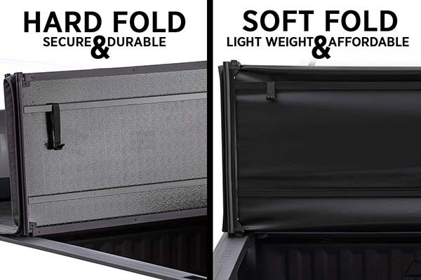 visual and structural difference between the tonnopro hard fold and soft fold