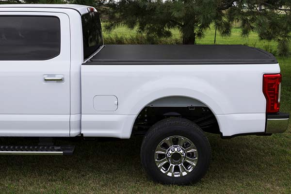 "Low-profile design sits a subtle .5"" above truck bow"