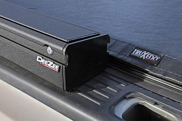 truxedo lo pro qt invis a rack tonneau cover detail