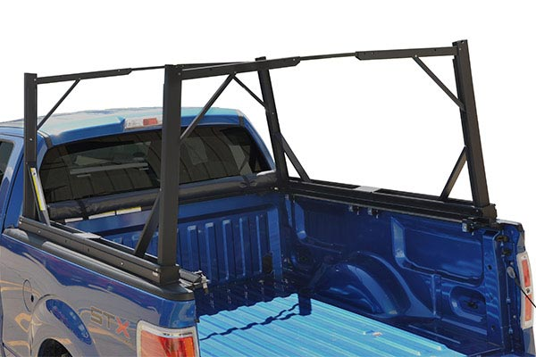 truxedo lo pro qt invis a rack tonneau cover open