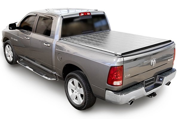 truxedo titanium hard rolling tonneau cover ram closed