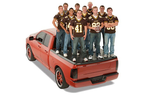 undercover tonneau football team