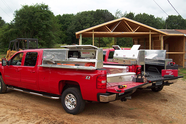 brute pro series contractor topside toolbox on trucks